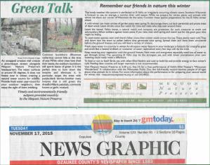 Green Talk November 2015 by Elizabeth Fagan