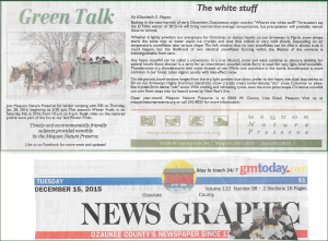 Green Talk December 2015 by Elizabeth Fagan
