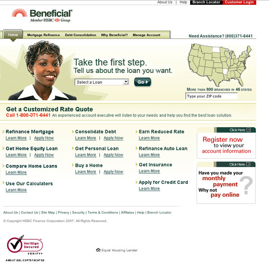 Beneficial.com Sales theme