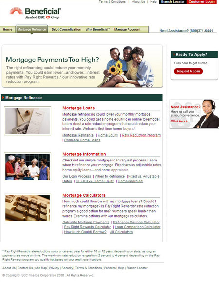 After: Beneficial.com Mortgage Refinance