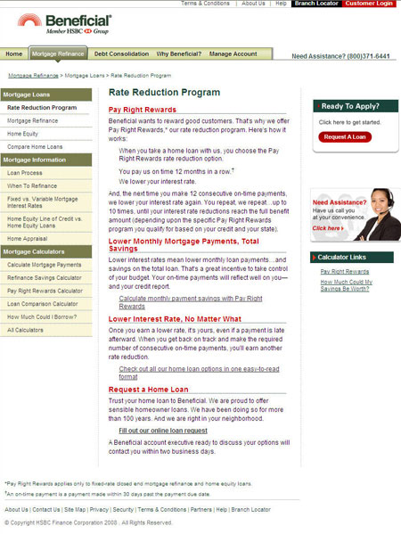 After: Beneficial.com Rate Reduction Program