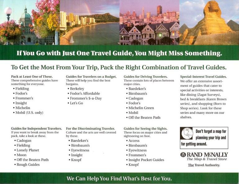 Rand McNally Map & Travel sell sheet
