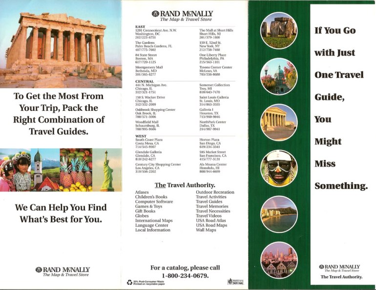 Map & Travel Store brochure 1, outside