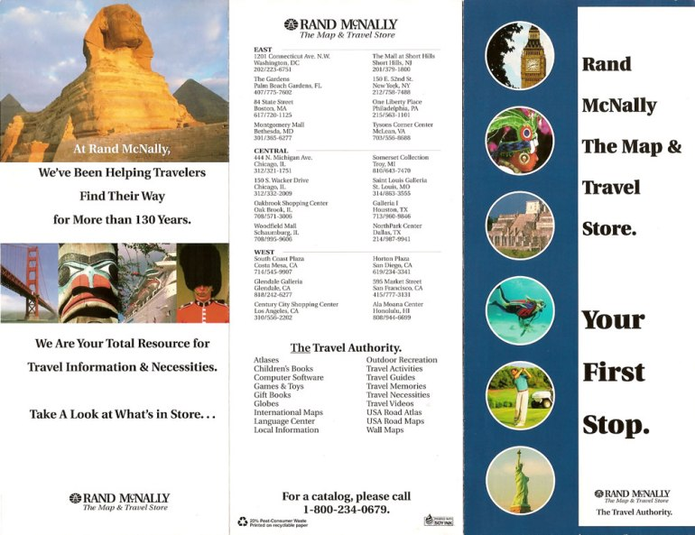 Map &  Travel Store brochure 2, outside